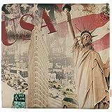Luxbon USA Statue Of Liberty Kissenbezug Kissen Fall Sofa Taille Throw Cover Pillowcase Huelle Couch Stuhl Auto Haus Deko 45 x 45 cm - 2