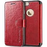 Funda iPhone 6 6S VRS Design® Carcasa Cuero [Rojo] 3 ranuras para tarjetas Cuero Pu Choque Absorción [Layered Dandy] para Apple iPhone 6 iPhone 6S