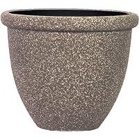 Pietra Luce SB Series 37 centimetri Fusioni pietra rotonda Planter - Mocha Sandstone (confezione da 6)