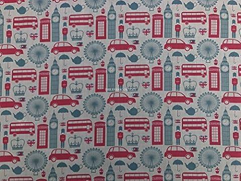 Prestige–London Big Ben London Eye Imprimé Patchwork quilting Tissu de fanions 114,3cm
