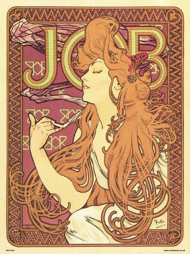 Mucha-job (onthewall Art Nouveau Kunstdruck/Poster, Alphonse Mucha-Job (PDP 037))