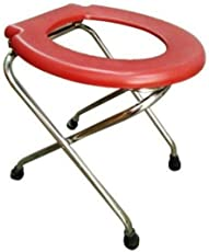 PHYSIQO SURGICAL™ COMMODE STOOL with Pot COLOUR RED