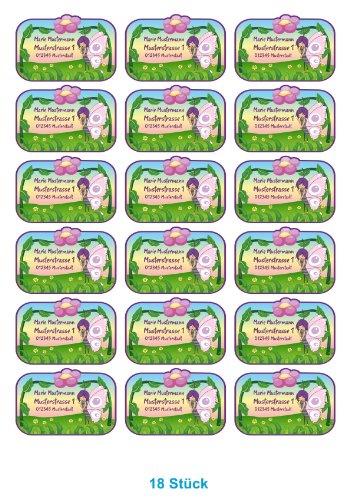 Etiquetas de nombre - etiquetas escolares - para niños juego de nombre diseño: hada de la abeja Maya (31 teilig)