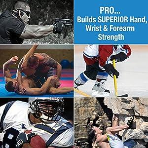Pro Hands X-Heavy Tension Hand & Finger Exerciser - Dark Grey 11lb