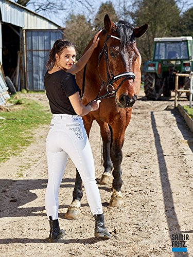 Turnier Reithose Nina Grip Vollgripp Silicon Weiß 36 38 40 42 44 Tysons Breeches mit Stick