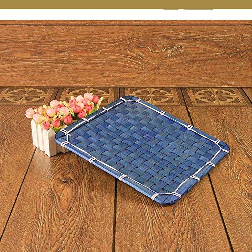 XBRsquare square bamboo mat huit creative pot mat tableau mat bowl pad pad taille isolation de bambou,green,18cm 18 *