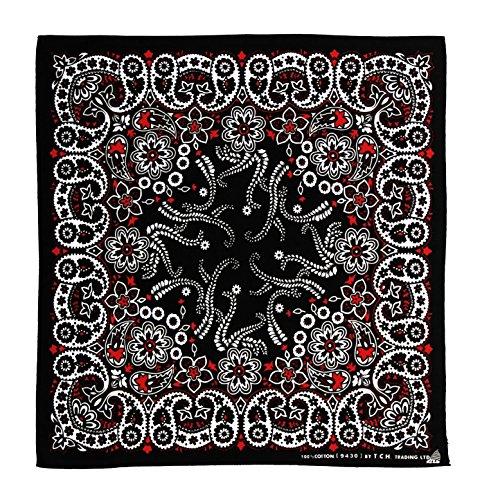 blanco-y-negro-rojo-costura-pauelo-bandana-pauelo