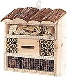 Royal Gardineer Bienenhotel: Insektenhotel Marie, Nisthilfe für Nützlinge, 20 x 20 x 7 cm (Nistkasten)