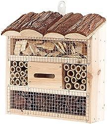 Royal Gardineer Bienenhotel: Insektenhotel Marie, Nistkasten für Nützlinge, 20 x 20 x 7 cm (Insekten-Hotels)