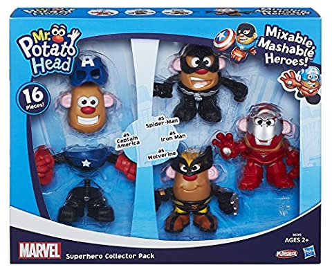 Playskool – Monsieur Patate – Marvel – Pack Mini Wolverine + Captain America + Iron Man + Spider-Man