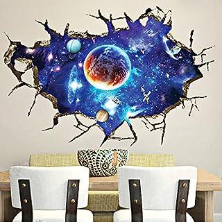 Alxcio 3D Wandaufkleber Aufkleber Wandbild Removable Decals Kunst Zimmer Dekor Wohnzimmer Schlafzimmer Kinderzimmer Sofa Hintergrund Wandtattoo Möbel