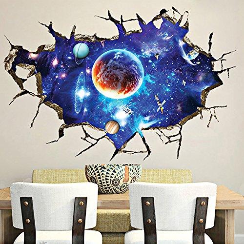 Alxcio 3D Wandaufkleber Aufkleber Wandbild Removable Decals Kunst Zimmer Dekor Wohnzimmer Schlafzimmer Kinderzimmer Sofa Hintergrund Wandtattoo Möbel (Zimmer Dekor Teenager)