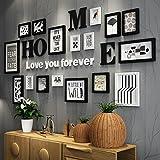 ANDEa Decorazione domestica Ristorante Living Room Combinazione 17 foto della scatola di legno a muro dei telai Hanging Photo Wall ( Colore : A )