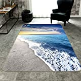 3D Meer Strand Wellen Blau Himmel 402RutschfestTeppichMatteRaumMatteQualitätElegantTeppichDE,AJWALLPAPERSeven (B80cmxH120cm【31.4