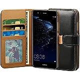 Huawei P10 Lite Hülle, ViViSun Wallet Ledertasche mit Standfunktion und Karte Halter Schutzhülle Tasche für Huawei P10 Lite