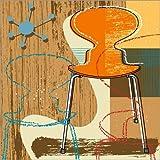 Posterlounge Alu Dibond 100 x 100 cm: ant Chair von Thomas Marutschke