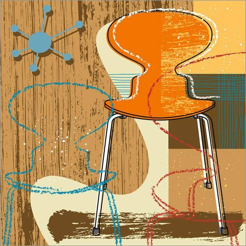 Posterlounge Holzbild 120 x 120 cm: ant Chair von Thomas Marutschke