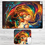 Abstract Girl Laptop Skin + Mousepad Com...
