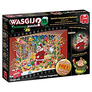 Wasgij Christmas 15-2 x 1000 pcs Puzzle - Rompecabezas (Puzzle Rompecabezas, Comics, Adultos, Niño/niña, 12 año(s), Interior)