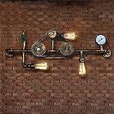 Lampada da parete in tubo d'acqua del metallo dell'annata con 3 luci per la stanza di soggiorno, la sala da pranzo, il foyer, la camera da letto, il bar, il randello, il ristorante, l'isola della cucina, la stanza di albergo, il corridoio, l'ufficio,