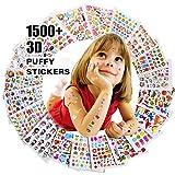 Adesivi per bambini 1500+, 20 fogli diversi, adesivi 3D Puffy, Scrapbooking, diari Bullet, adesivi per adulti, tra cui animali e altro, regalo di compleanno per ragazza