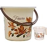 Fuscia™ Special Deluxe Plastic Bathroom Bucket 13 LTR (Brown, Blue, Pink)