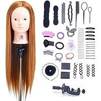"SIGHTLING 26"" 60% Veri Capelli Testina Parrucchiere Testa Studio Parrucchiere Manichino Cosmetologia Formazione Pratica…"