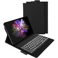 Jelly Comb Samsung Galaxy Tab A 10.1 2019 Tastatur Hülle, Bluetooth Beleuchtete QWERTZ Tastatur mit Schützhülle für Samsung Galaxy Tab A 10,1 Zoll T515/T510 mit 7-farbigen Beleuchtung, Schwarz