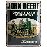 Nostalgic-Art 23137 John Deere - Quality Farm Equipment, Blechschild 30x40 cm