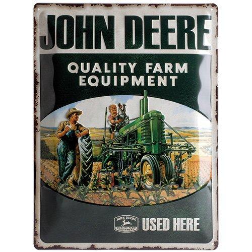 Nostalgic-Art 23137 John Deere - Quality Farm Equipment, Blechschild 30x40 cm (John Farm Deere Equipment)