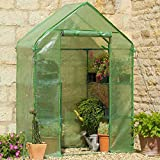 Compact Walk-In Greenhouse with Shelves and Heavy Duty Cover
