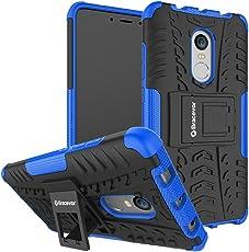 Bracevor Shockproof Xiaomi Redmi Note 4 Hybrid Kickstand Back Case Defender Cover - Blue