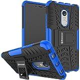 Bracevor XRDN4DKSBU Back Case Cover with Kickstand for Xiaomi Redmi Note 4  Blue