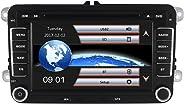 Yingly Doppel din Autoradio für VW Radio mit Navi Unterstützt Radio Touchscreen Bluetooth MicroSD Lenkradsteuerung Parkkamera