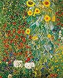 1art1 60765 Gustav Klimt - Bauerngarten Mit Sonnenblumen, 1905-06 Kunstdruck 50 x 40 cm