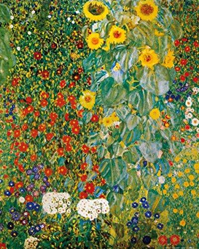 1art1 60765 Gustav Klimt - Bauerngarten Mit Sonnenblumen, 1905-06 Poster Kunstdruck 50 x 40 cm (1905 Poster)