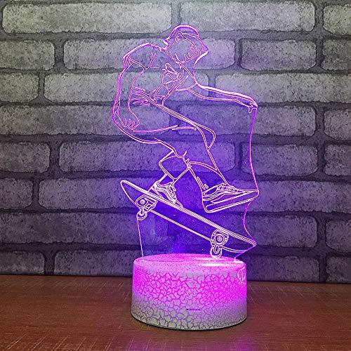 GBBCD Nachtlicht Produkt-kundenspezifische Lampe des Geschenk-3D führte Tabellen-Schlafzimmer-Dekorations-Luft-kleines Nachtlicht geführte Usb-Kinderlampe -