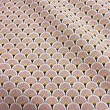 Stoff Baumwollstoff Meterware Japan Fächer rund rosa
