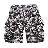 Yonglan Hombre Militar Cortos de Carga Camuflaje Bermuda Cortos Pantalones Deporte Shorts...