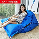 Dngy*persona perezoso sofá bean bag puede plegar el asiento minimalista moderno sofá cama doble perezosos pc sofá tatami , azul