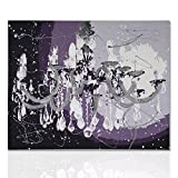 Colorscrazy Moderner Malerei Kronleuchter Silber malerei auf Leinwand mit handgefertigtem Holzrahmen bereit, Bild für Wohnzimmer aufzuhängen - Declea