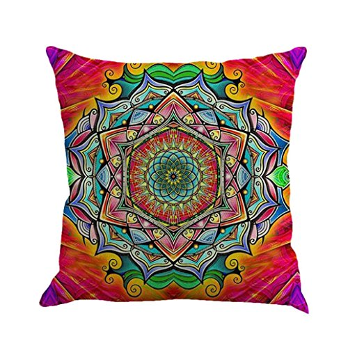 "Xinan Kissenbezug Geometrie Bohemian Pillowcase Kissen Sofa Home Dekor 45x45 (45cm*45cm/18 * 18"", E)"