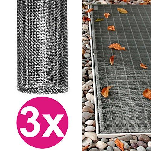 3x Lichtschachtabdeckung 120 x 60 cm Edelstahl individuell zuschneidbares Gitter Kellerschacht-Abdeckung Schutzgitter rostfrei, langlebig und pflegeleicht