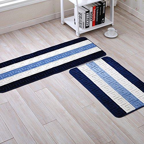 SUNA Tappetino Antiscivolo per Cucina-tappeti per La Casa E per La Cucina,  Design del Motivo A Strisce [Formato Blu Opzionale]