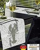 Kamaca Outdoor Tischläufer 40x150 cm Lobster ABWASCHBAR Wetterfest Rutschfest