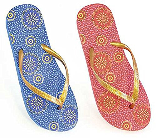 sandrock , Tongs pour homme Gold/Pink Floral UK 3/4 Gold/Pink Floral