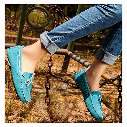 Amurleopard Chaussures Mocassins Escarpin femme cuir mode Bleu