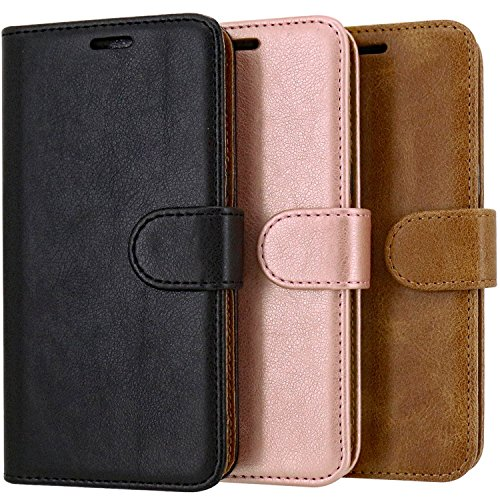 Case Collection Premium Leather Folio Cover for Samsung Galaxy J6 Case 5.6 Magnetic Closure Full Protection Book Design Wallet Flip with [Card Slots] and [Kickstand] for Samsung Galaxy J6 Phone Case