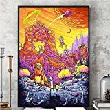 Wall Art Decor Poster Artworks, Rick y Morty Season 3 Silk Poster Wall Picture Painting Tela de Seda Colorida...