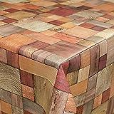 Tovaglia cerata, motivo: legno, misura a scelta, Plastica, sättige, beständige Farben, 180 x 140cm